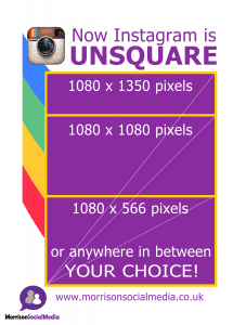 Unsquare Instagram 2015 post sizes