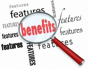 Focus on benefits not features