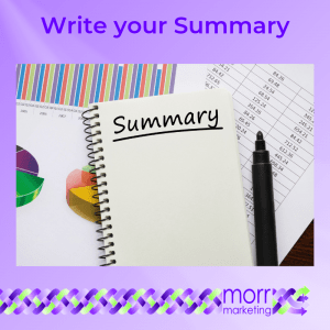 5. Write your Summary - Nine Tips for Creating Your EBook Content